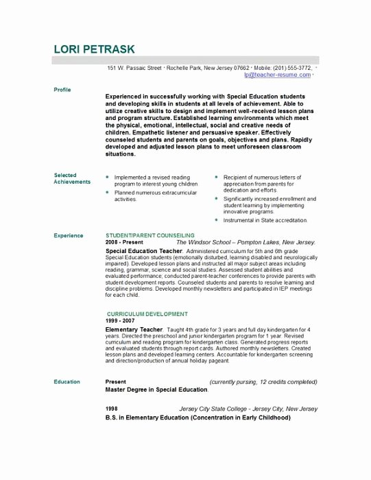 Teaching Resume Template Free Unique 301 Moved Permanently
