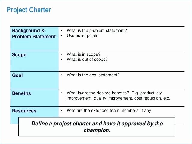 Team Charter Template Powerpoint Awesome Problem solving Template by Operational Excellence