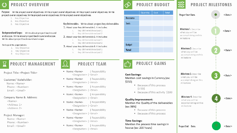 Team Charter Template Powerpoint Awesome Project Charter Template Ppt Project Management Templates