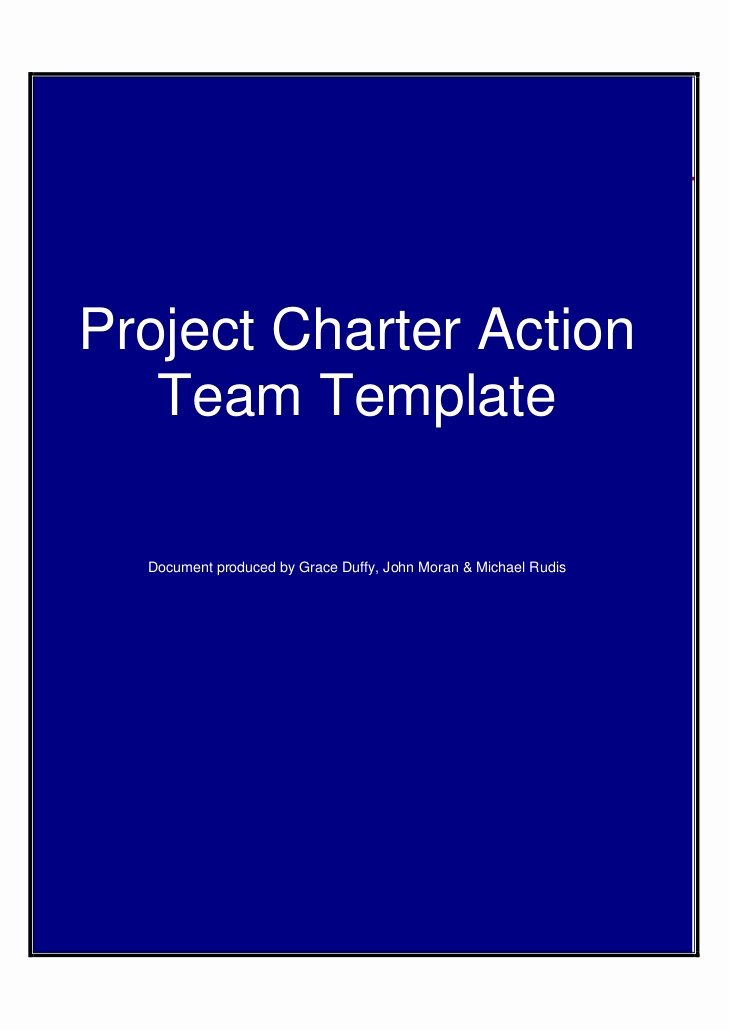 Team Charter Template Powerpoint New Project Charteractiontemplate