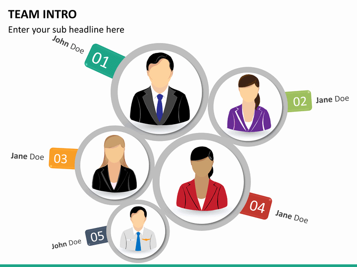 Team Introduction Ppt Template Beautiful Team Introduction Powerpoint Template