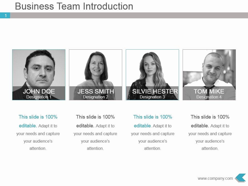 Team Introduction Ppt Template Elegant Business Team Introduction Ppt Template Design
