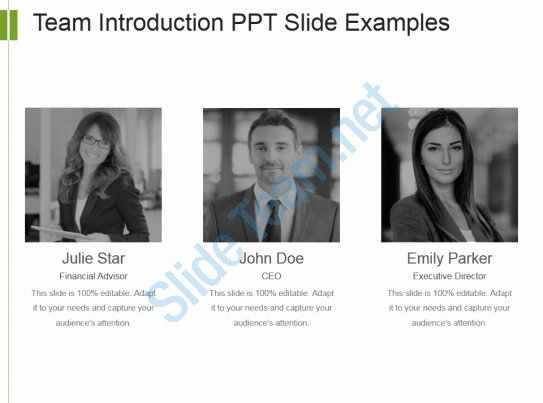Team Introduction Ppt Template Elegant Team Introduction Ppt Slide Examples