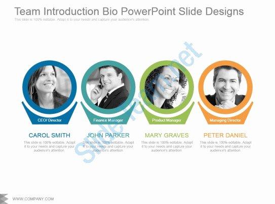 Team Introduction Ppt Template Fresh Team Introduction Bio Powerpoint Slide Designs
