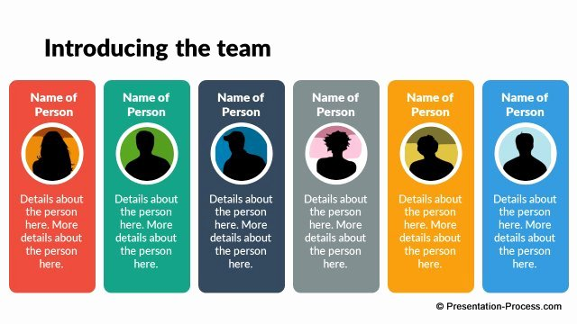 Team Introduction Ppt Template Inspirational Flat Design Templates for Powerpoint