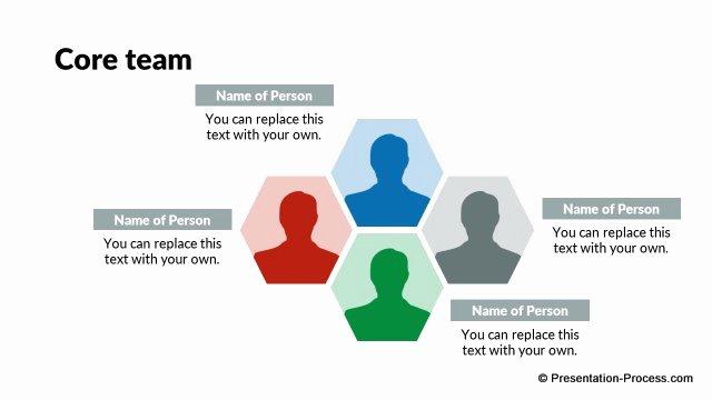 Team Introduction Ppt Template Inspirational Flat Design Templates Powerpoint org Chart