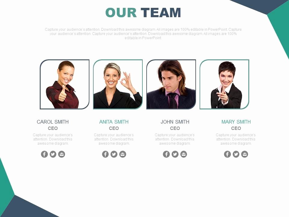 Team Introduction Ppt Template Inspirational Team Introduction Slide with Powerpoint Slide