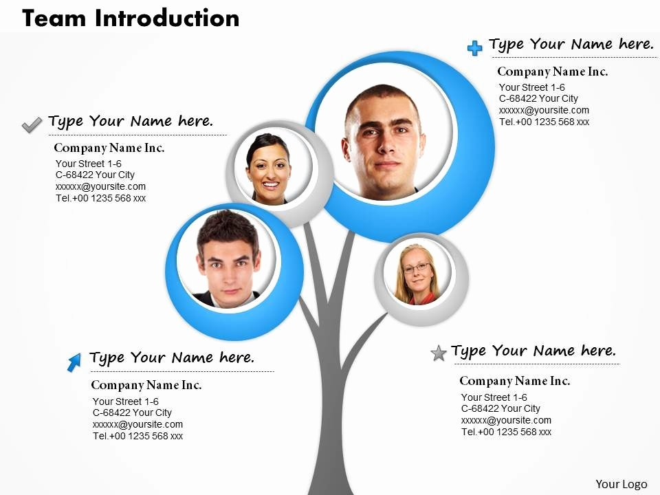 Team Introduction Ppt Template New 0514 Make A Team Introduction Tree