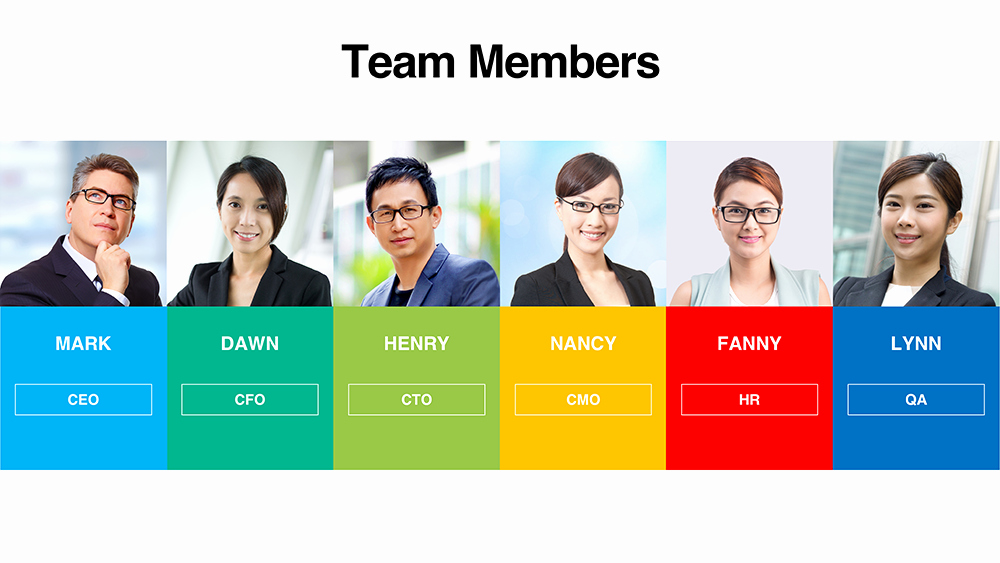 Team Introduction Ppt Template New Download Team Member Templates