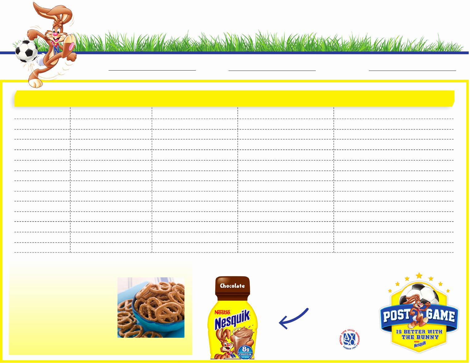 Team Snack Schedule Template Beautiful Download Team Snack Schedule Template for Free formtemplate