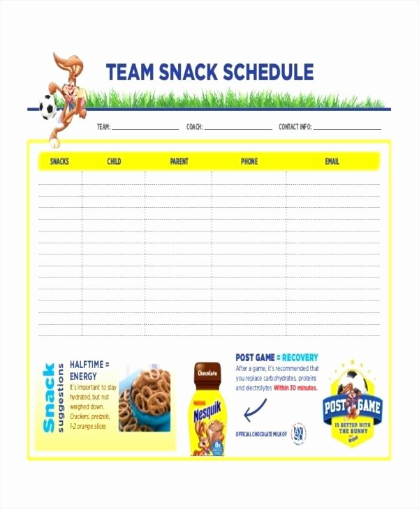 Team Snack Schedule Template Best Of Baseball Game Schedule Template – Vraccelerator