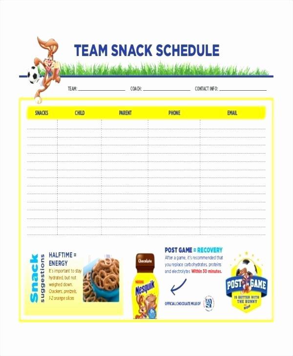 Team Snack Schedule Template Best Of Baseball Game Schedule Template – Vraccelerator