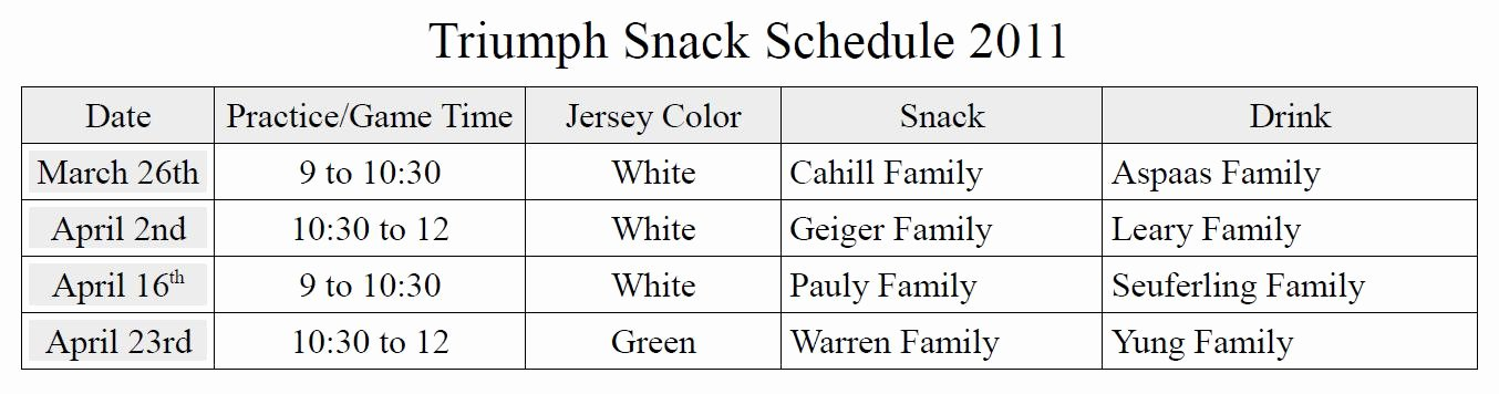 Team Snack Schedule Template Inspirational Basketball Team Roster Template for Excel Vertex42