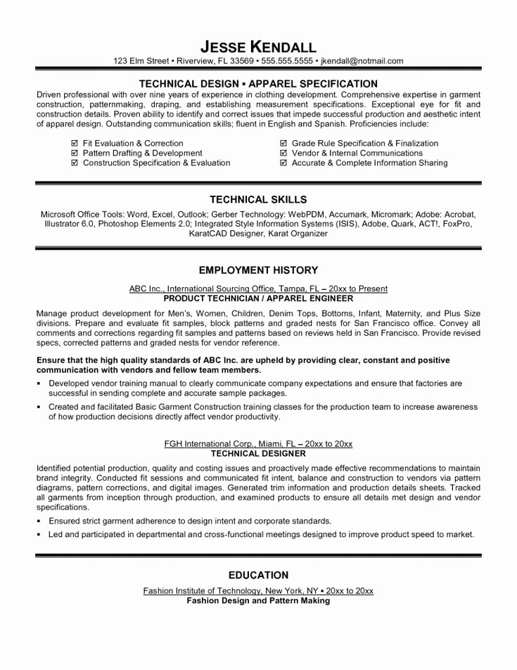 Tech theatre Resume Template Beautiful top 10 Collection Technical Resume Examples