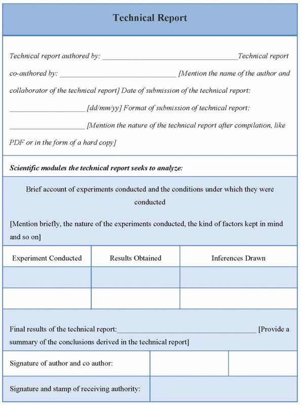 Technical Report Template Word Beautiful Technical Report Template