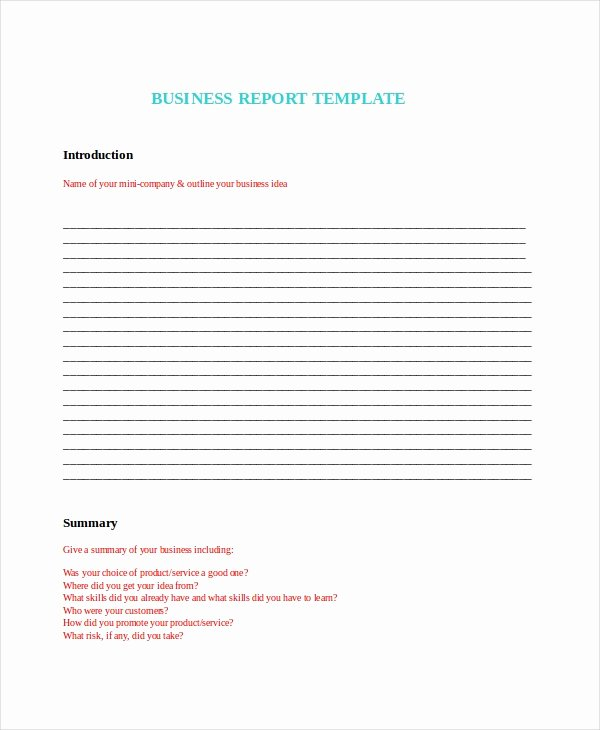 Technical Report Template Word Elegant Word Report Template 8 Free Word Document Downloads