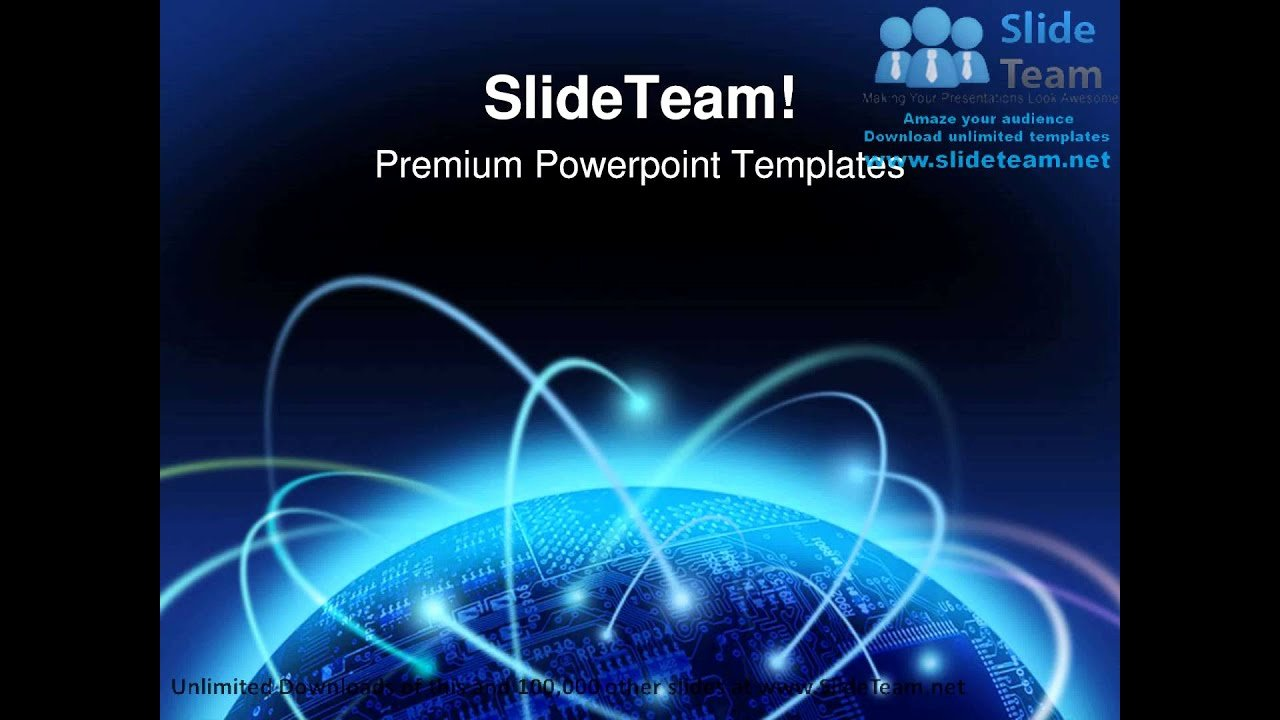 Technology Power Point Template Awesome Global Information Technology Powerpoint Templates themes