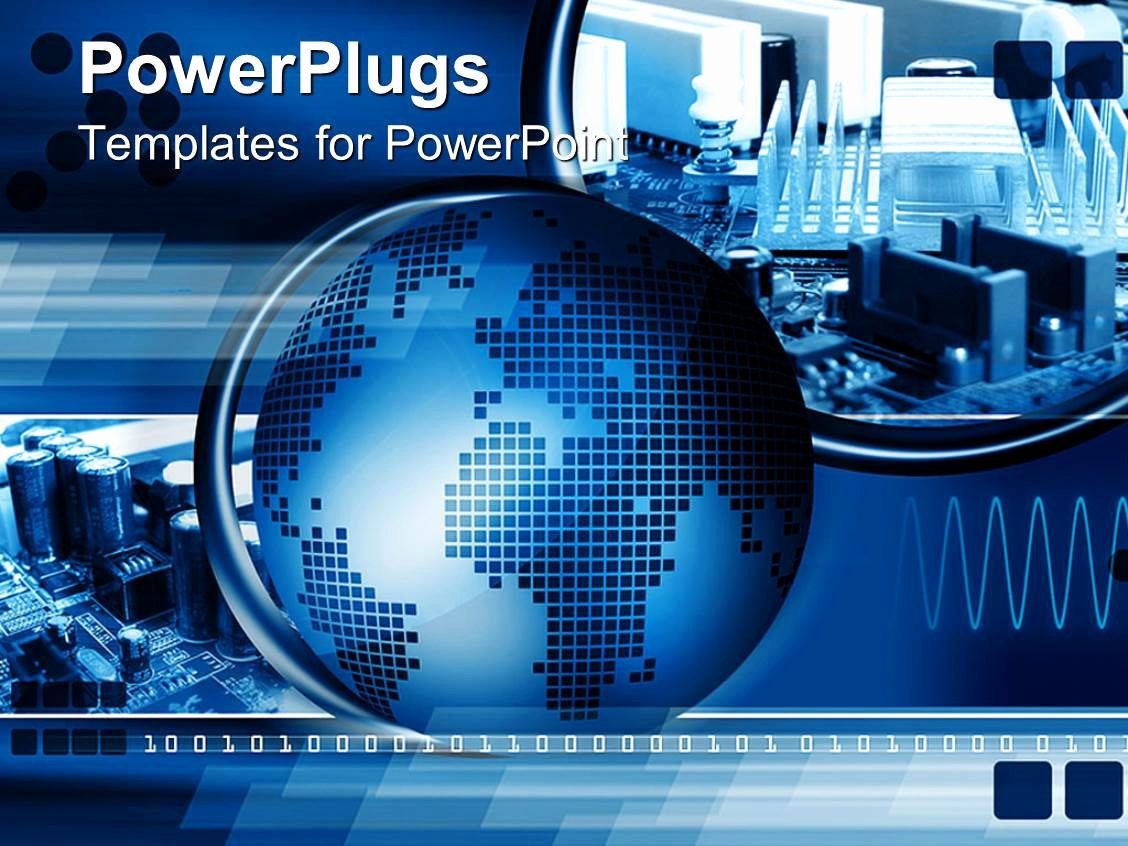 Technology Power Point Template Awesome Powerpoint Template Technology Abstract Puter Chip