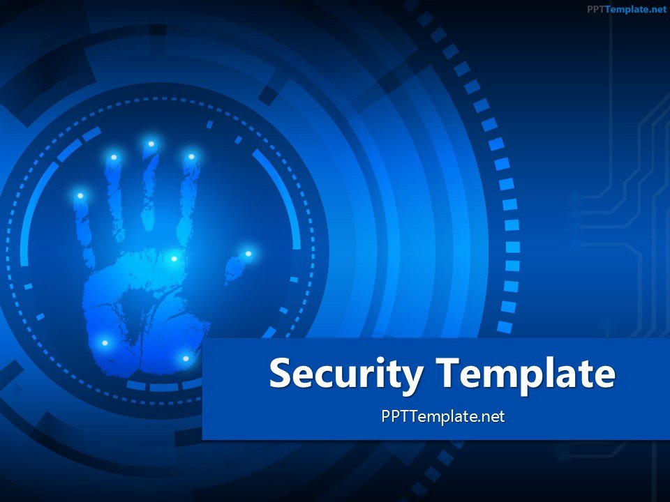 Technology Power Point Template Beautiful Free Security Palm Print Ppt Template