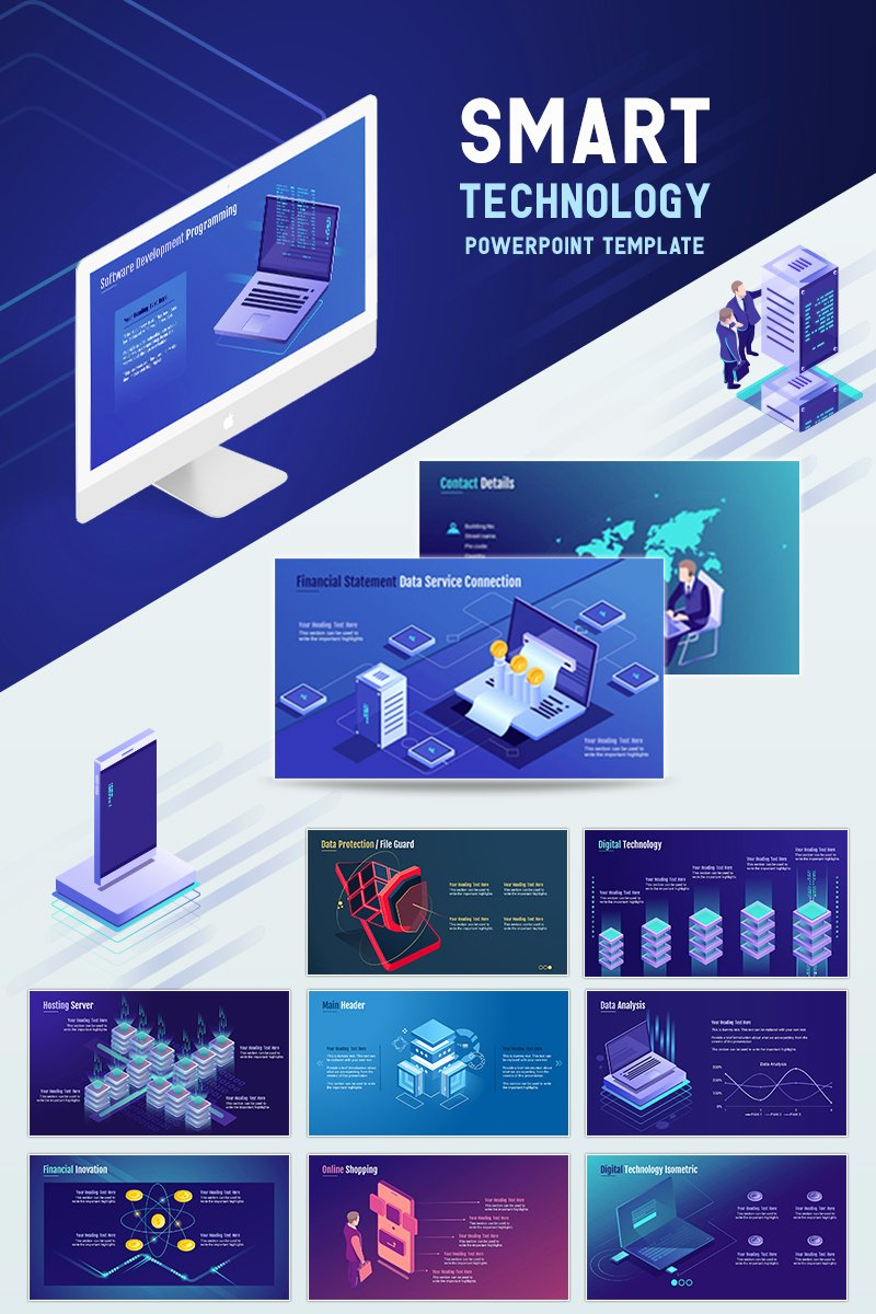 Technology Power Point Template Best Of Smart Technology Powerpoint Template