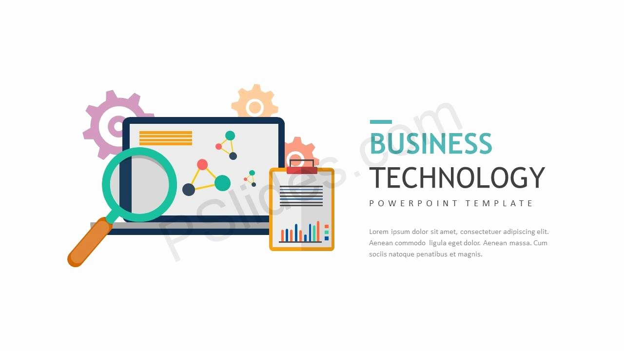 Technology Power Point Template New Business Technology Powerpoint Template Pslides