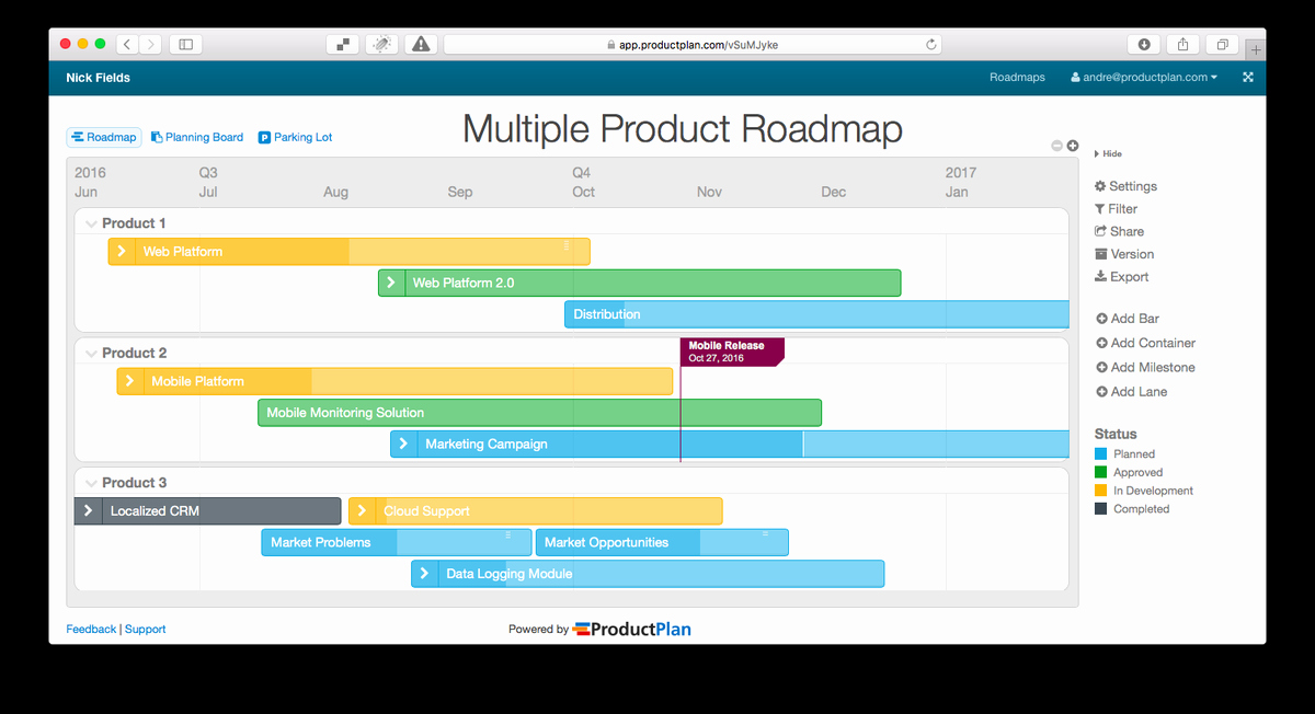 "Technology Roadmap Template Excel Best Of Productplan On Twitter ""looking for Product Roadmap"