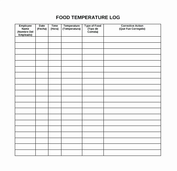 Temperature Log Template Excel Awesome Calorie Tracker Template – Virtualisfo