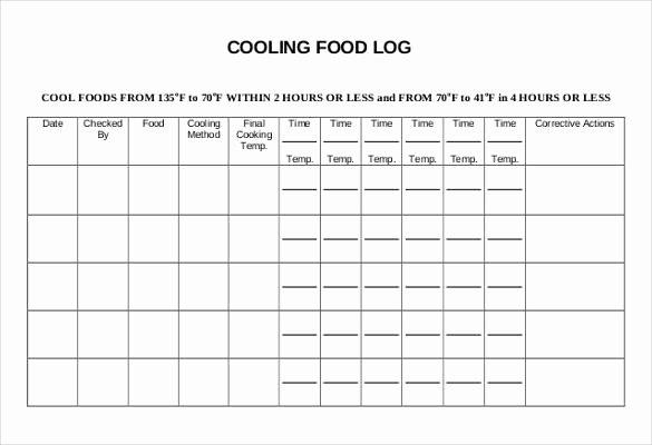 Temperature Log Template Excel New Food Temperature Log Sheet