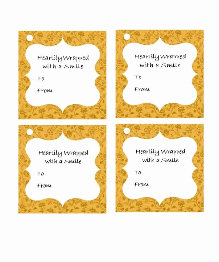 Template for Gift Tags Awesome 44 Free Printable Gift Tag Templates Template Lab