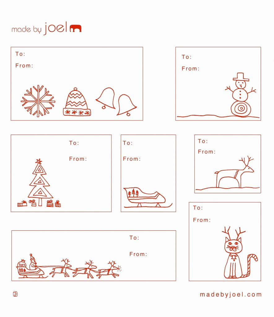 Template for Gift Tags Beautiful Made by Joel Holiday Gift Tag Templates