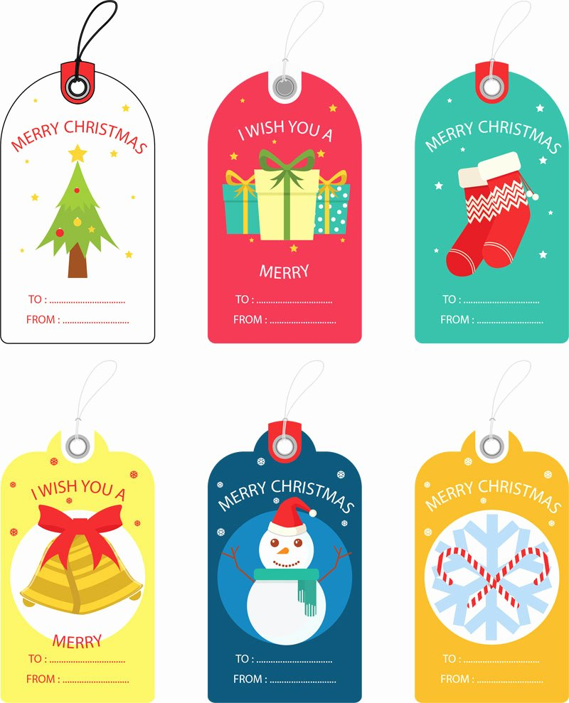 Template for Gift Tags Elegant Free Christmas Gift Tag Templates Editable & Printable