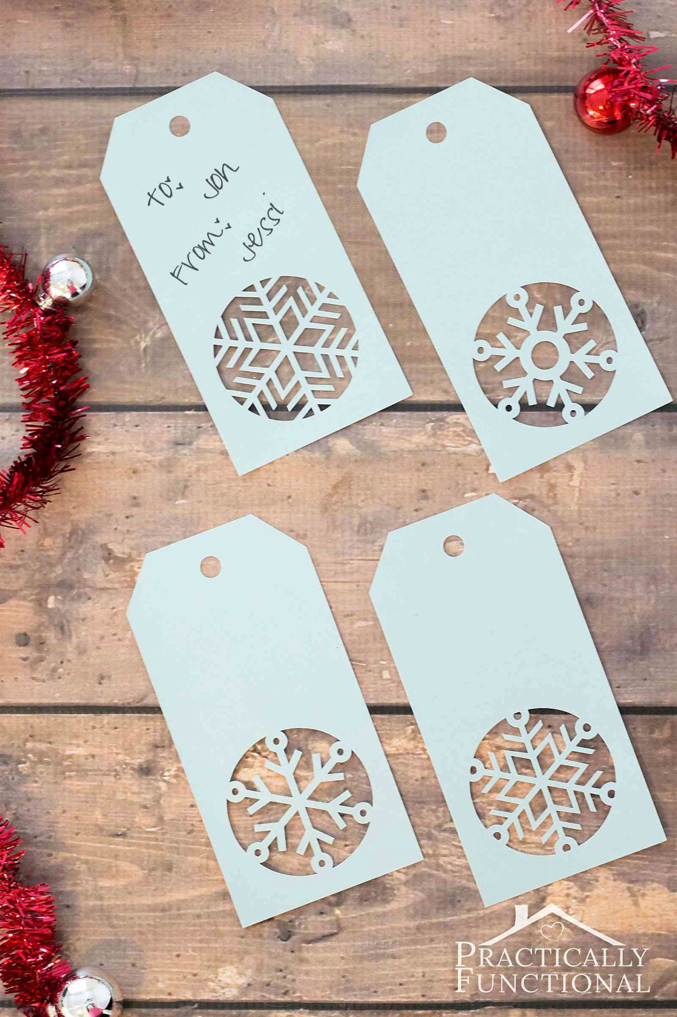 Template for Gift Tags Elegant Handmade Snowflake Christmas Gift Tags Free Template