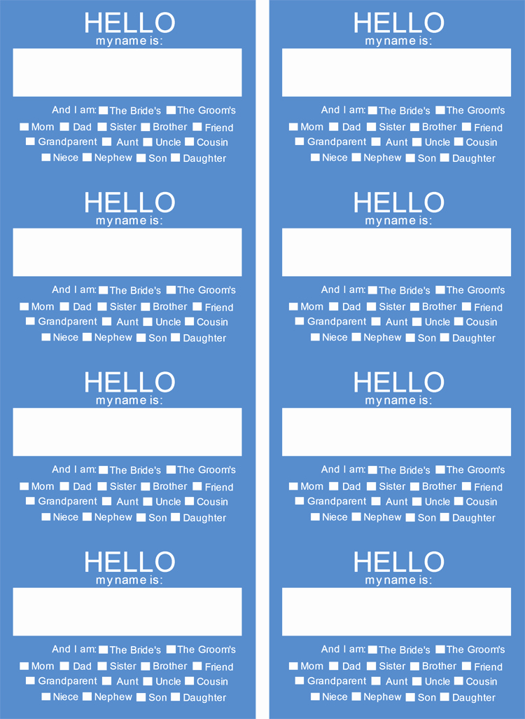Template for Name Tags Awesome 5 Name Tag Templates to Print Custom Name Tags