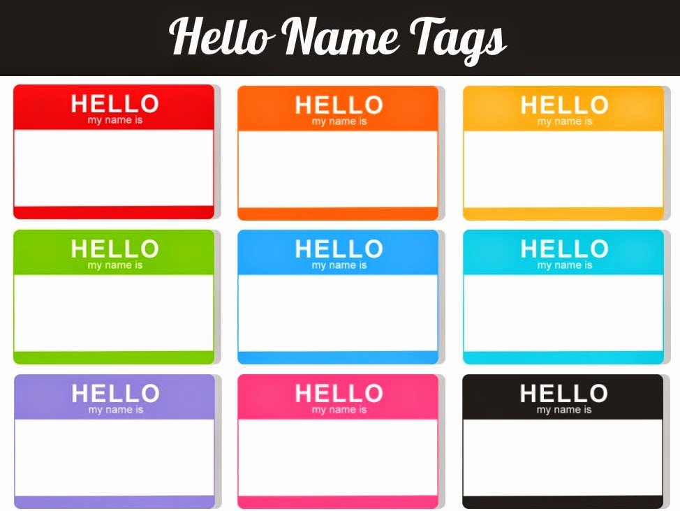 Template for Name Tags Fresh Daily Favor Hello My Name is