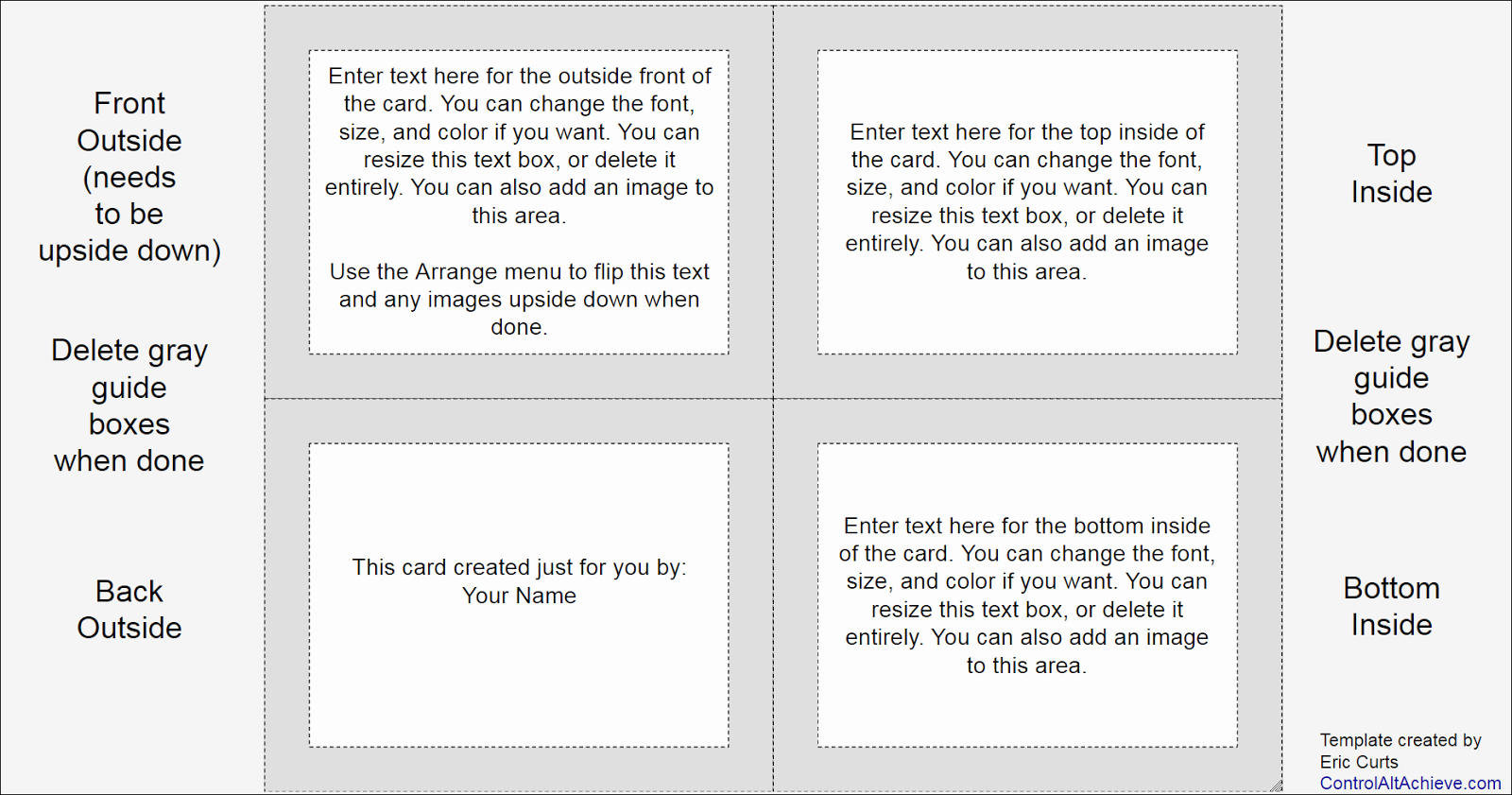 Template for Note Cards Awesome Control Alt Achieve How Your Students Can Use Google