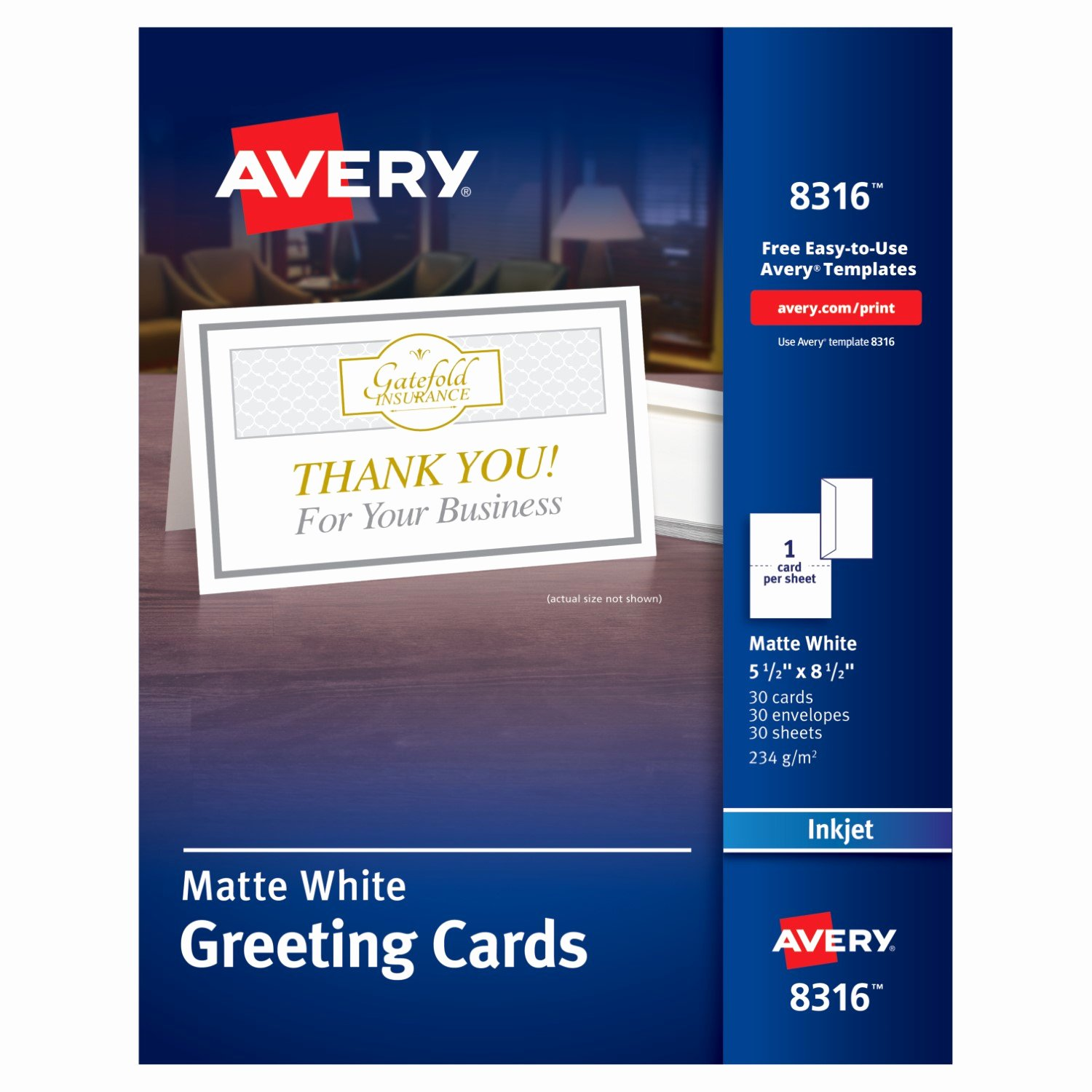 Template for Note Cards Inspirational Avery Half Fold Greeting Cards Ave8316