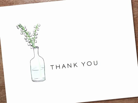 Template for Note Cards Luxury Printable Thank You Card Template Instant Download by Empapers