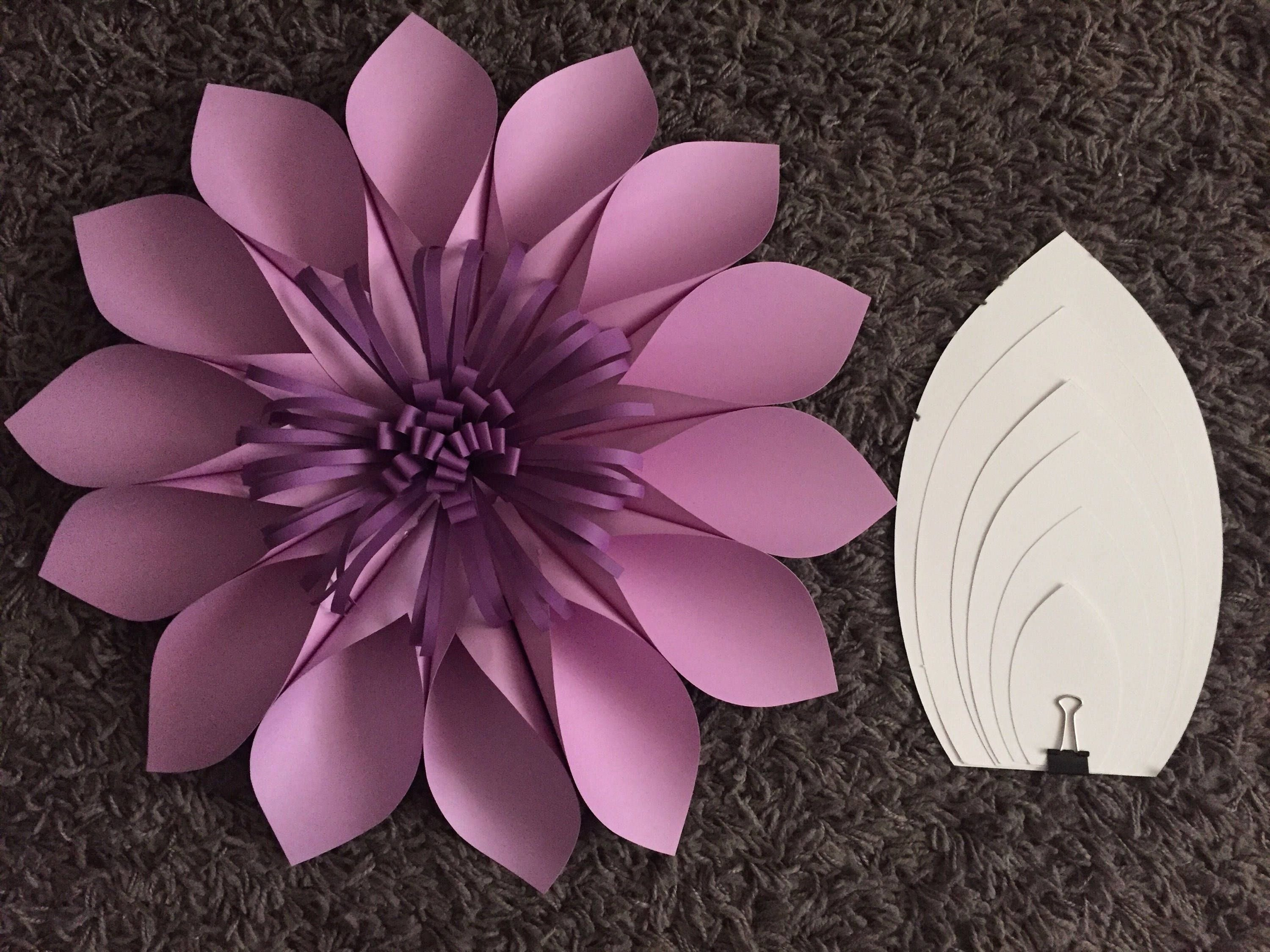 Template for Paper Flowers Awesome Diy Paper Flower Template 2 Paper Flower Backdrop Hard