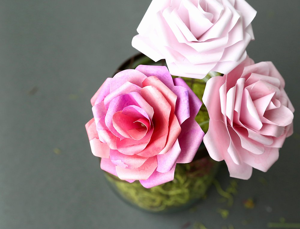 Template for Paper Flowers Awesome Make Gorgeous Paper Roses with This Free Paper Rose