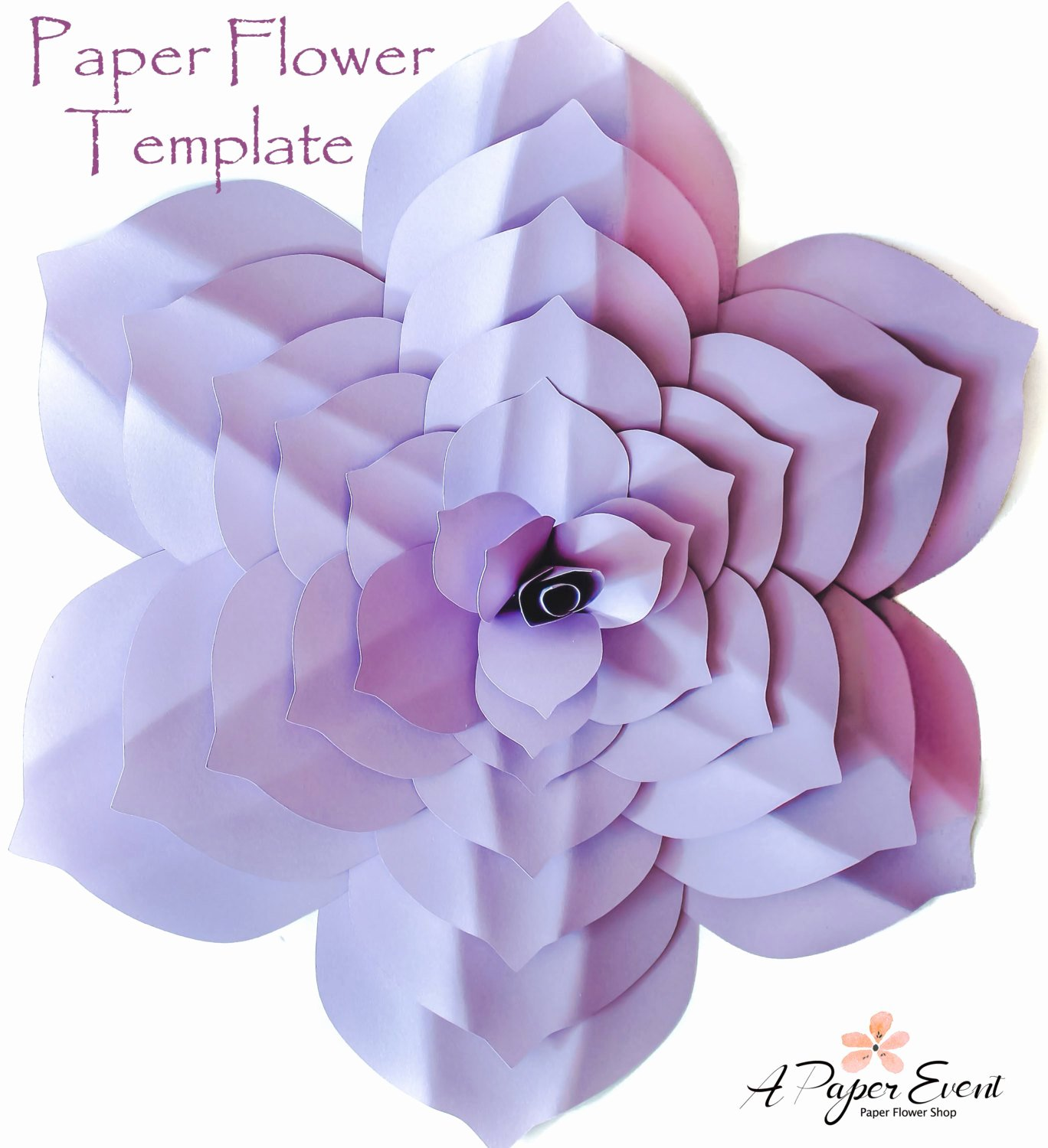 Template for Paper Flowers Fresh Paper Flower Template Diy Paper Flower Paper Flower