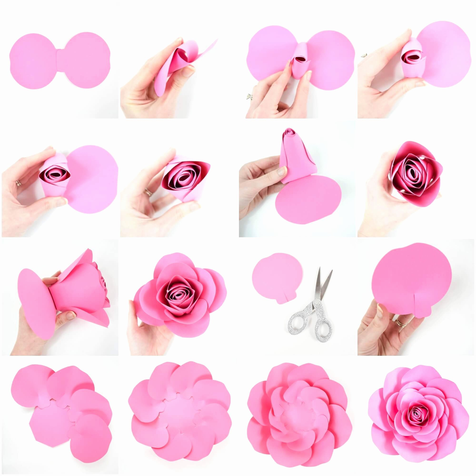 Template for Paper Flowers Lovely Free Paper Rose Template Diy Camellia Rose Tutorial