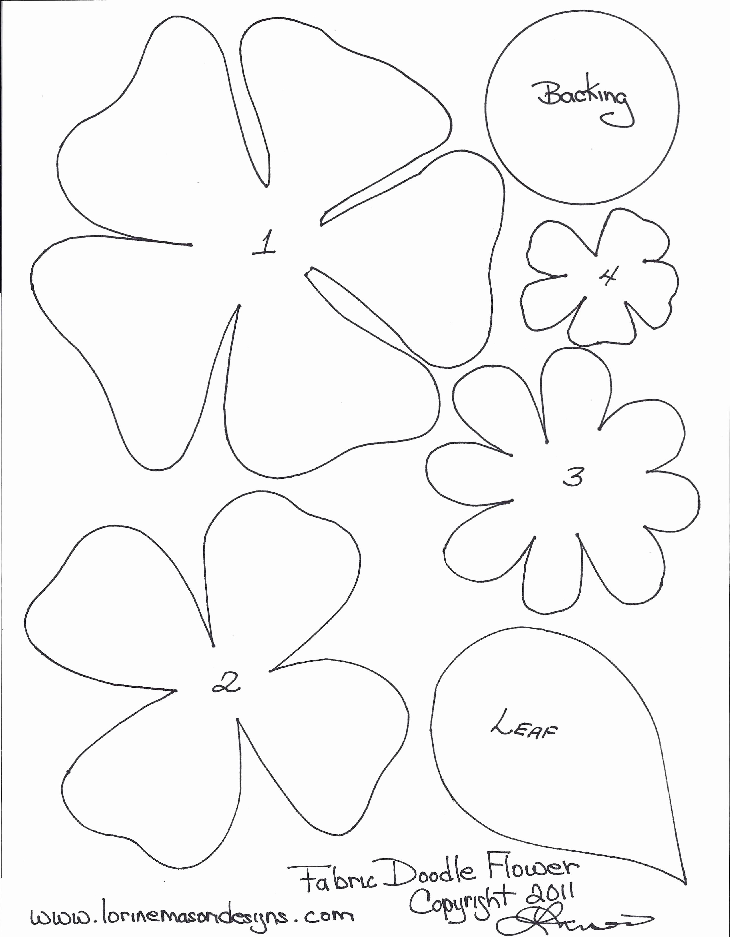 Template for Paper Flowers Luxury Free Printable Paper Flower Templates
