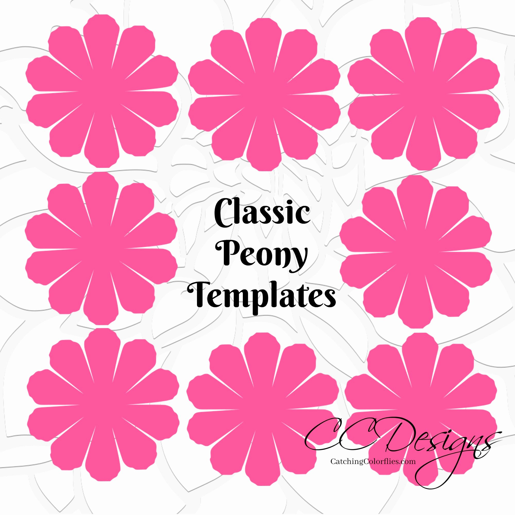 Template for Paper Flowers Luxury Paper Flower Printable Templates Diy Peony Paper Flowers