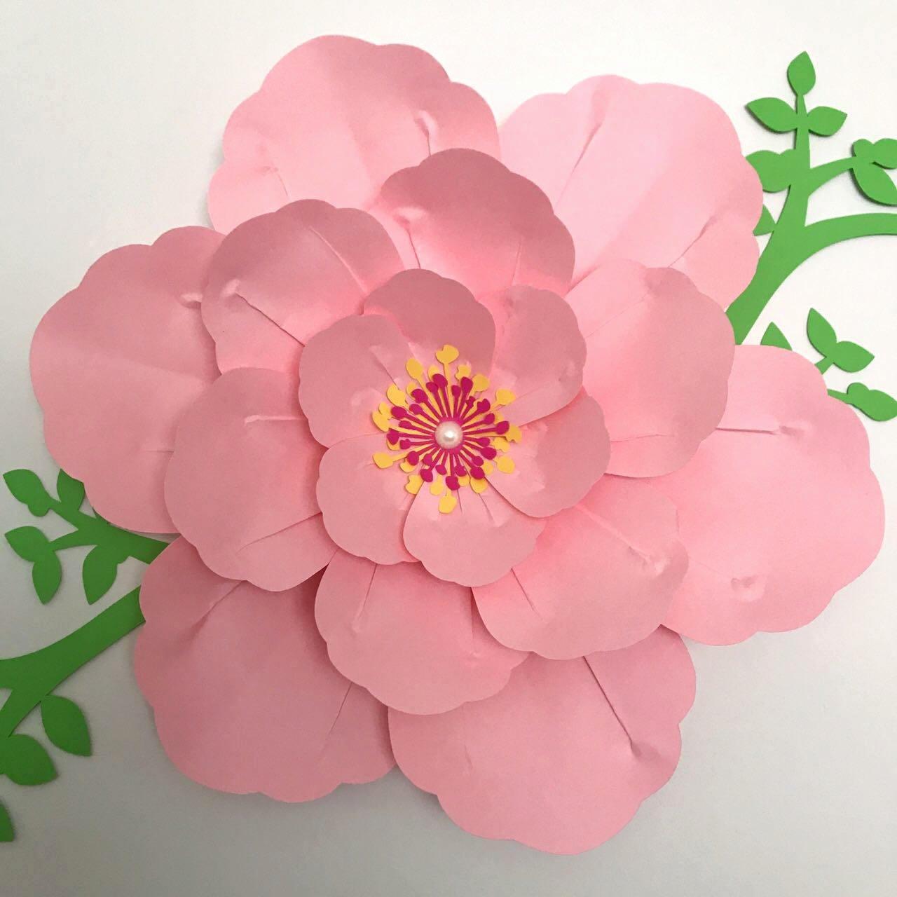 Template for Paper Flowers Luxury Svg Petal 16 Paper Flower Template Digital Version