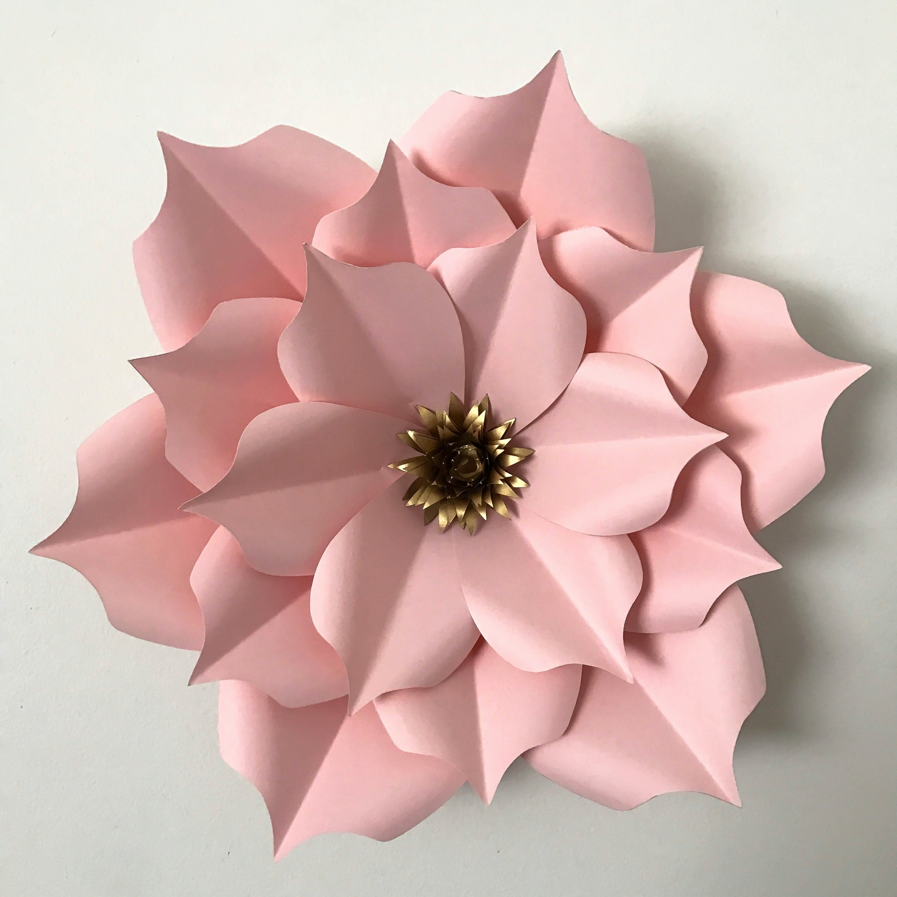 Template for Paper Flowers New Giant Paper Flower Template Pdf Templates Data