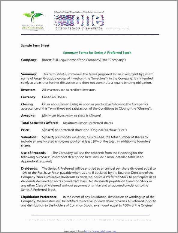 Term Sheet Template Word Inspirational 5 Acquisition Term Sheet Template Wttrr