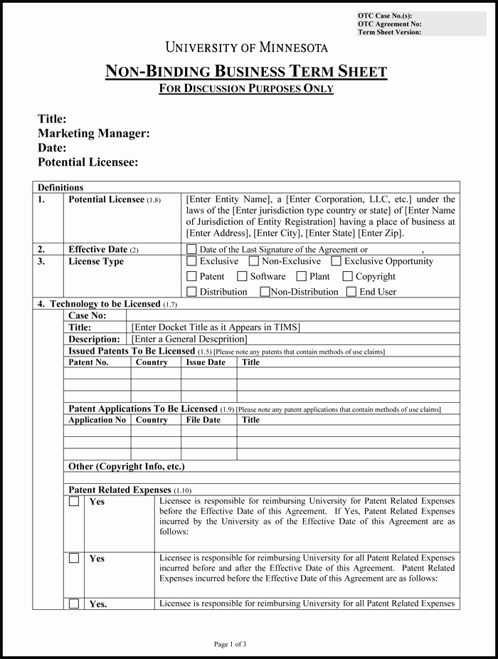 Term Sheet Template Word Unique Choose From 9 Term Sheet Templates