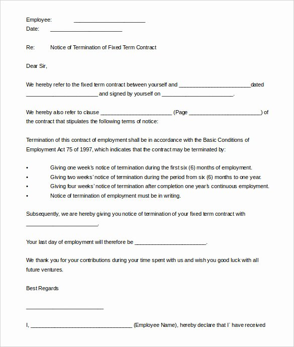 Termination Of Contract Template Beautiful 22 Contract Termination Letter Templates Pdf Doc