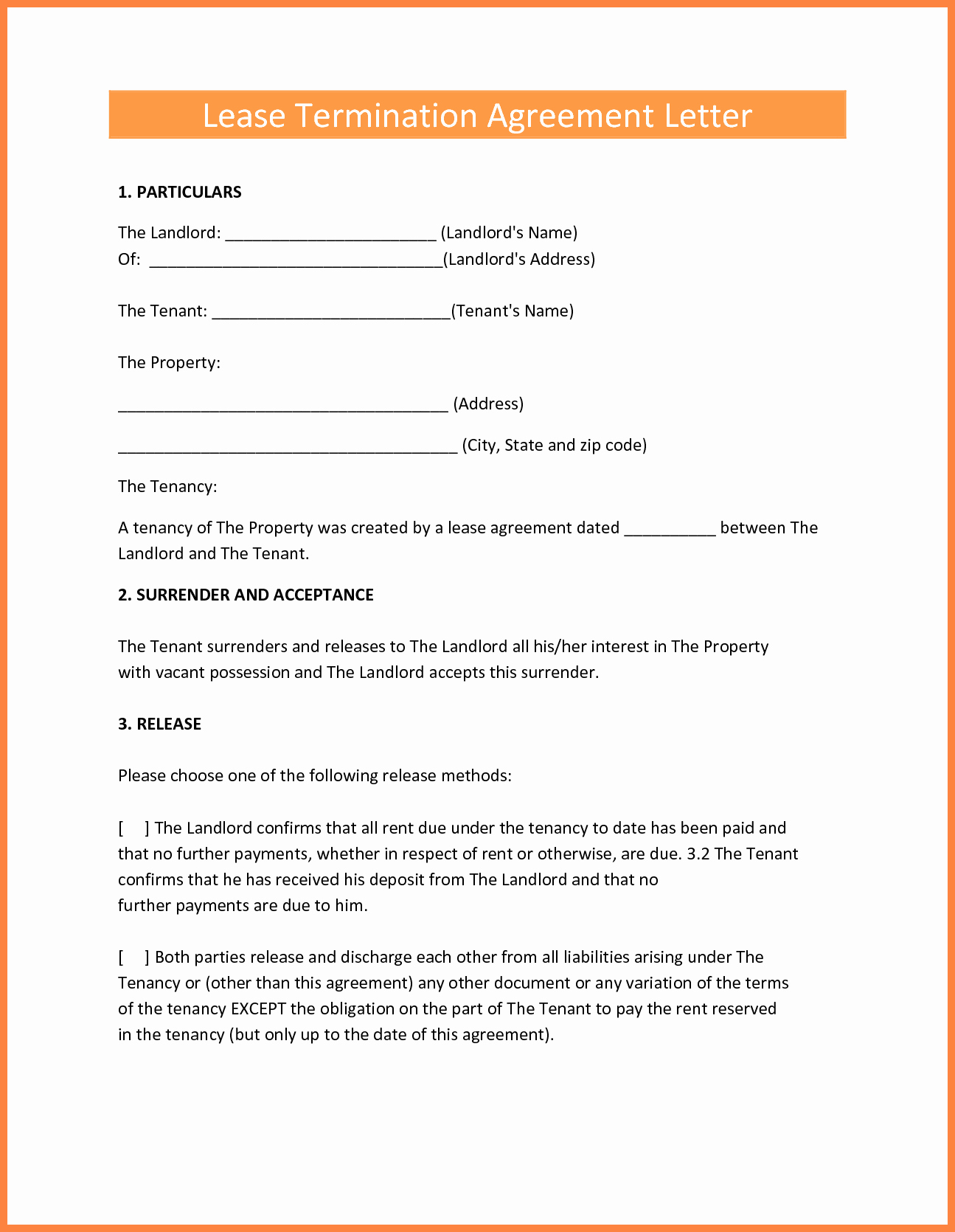 Termination Of Contract Template Fresh 9 Termination Of Lease Agreement