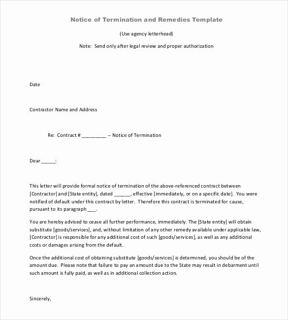 Termination Of Contract Template Luxury 22 Contract Termination Letter Templates Pdf Doc